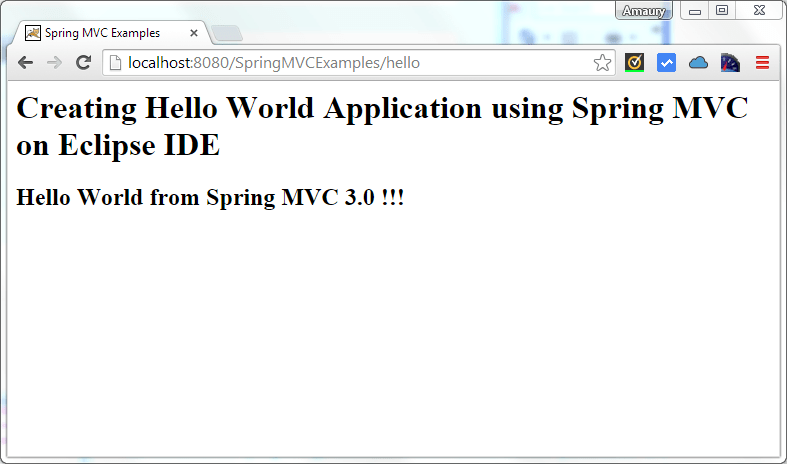 spring mvc hello world