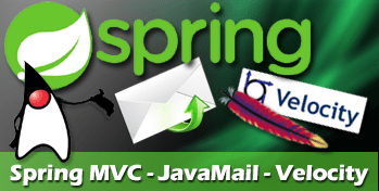 java spring mvc email example using apache velocity