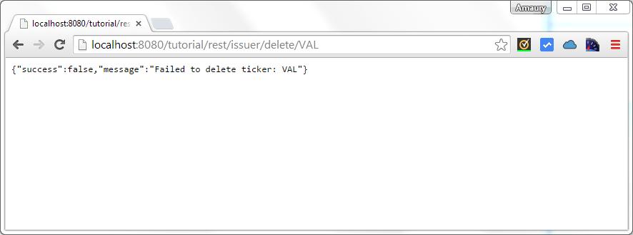 issuer delete by ticker failure