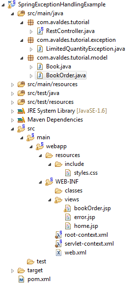 spring mvc exception