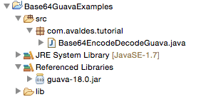 Base64 Encoding and Decoding Examples in Java using Google Guava
