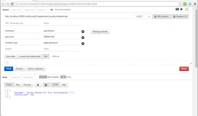 JAX-RS Security using JSON Web Encryption (JWE) with JWS