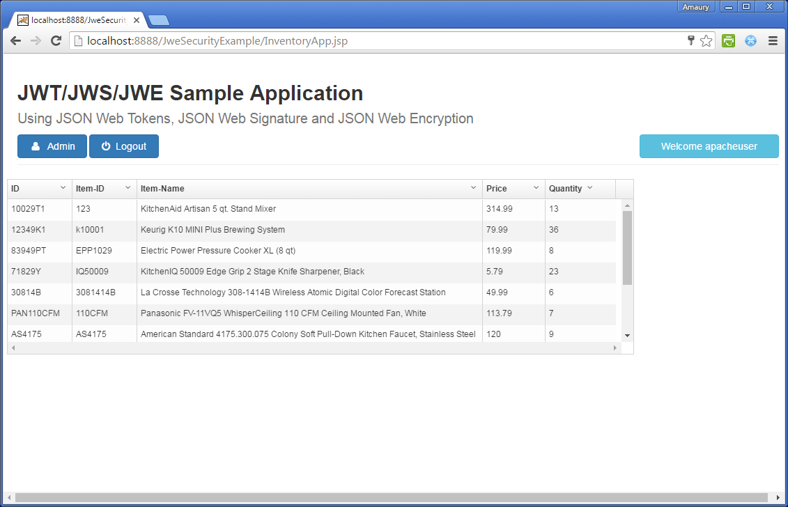 JAX-RS Security using JSON Web Encryption (JWE) with JWS/JWT