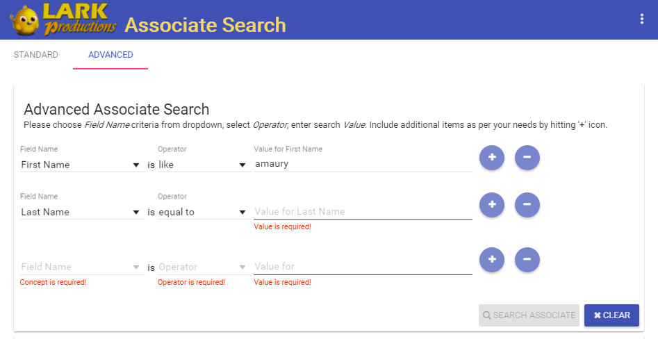 Designing Basic and Advanced Dynamic Search Forms using Angular
