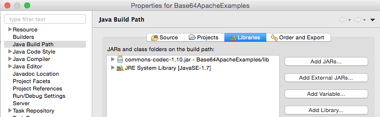 Base64 Encoding and Decoding Examples in Java using Apache