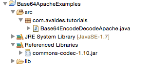 Base64 Encoding and Decoding Examples in Java using Apache Commons